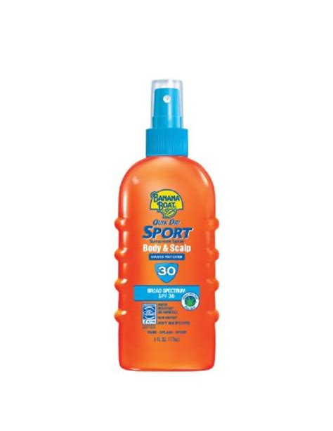 Banana Boat Scalp Sunscreen by Banana Boat Quik Dri Sport Body Scalp Spray Sunscreen