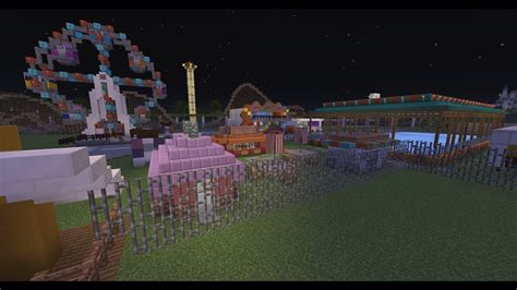 minecraft  working carnival rides carniland youtube