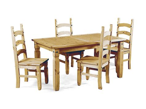soild pine wooden dining table and 4 chairs homegenies