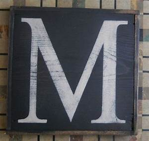 large letter m urban graphics alphabet wooden letter With wooden letter board