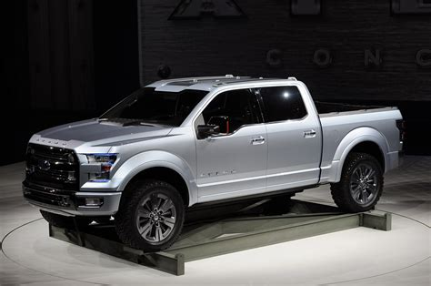 future ford f150 ford atlas concept carries the weight of the f 150 on its