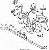 Cartoon Skier Coloring Guy Vector Clipart Outline Drawing Skiing Ski Leishman Clipground Getdrawings Ron sketch template