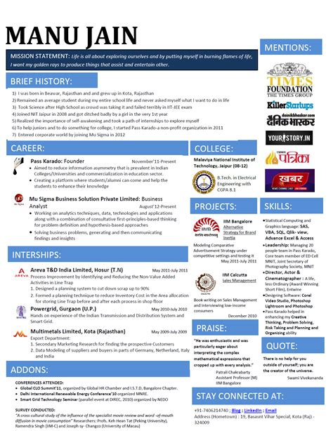 Iit Resume Computer Science by Resume Of Iit Computer Science Student Simple Format Best Resume Templates