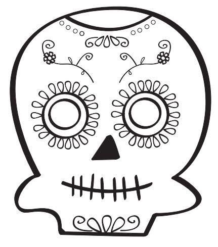 Calavera para colorear Calaveras Dia de Muertos