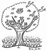 Mustard Seed Parable Tree Coloring Clip Clipart sketch template