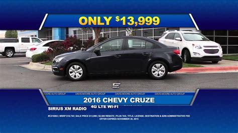 Fall Savings At Davismoore Chevrolet Youtube