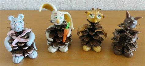 pate a sel animaux fabriquer des animaux bonhommes en pomme de pin agencema
