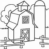 Coloring Barn Pages Printable Popular sketch template
