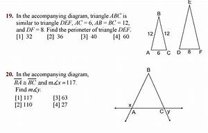 Solved  In The Accompanying Diagram  Triangle Abc Is Simil