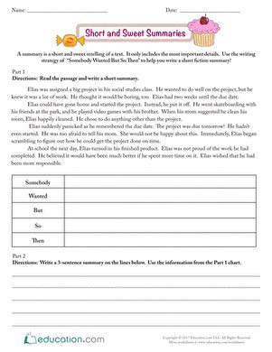 summarizing worksheets 3rd grade newatvs info