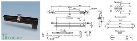 slide pot motorized 10k linear taper 10976 sparkfun electronics