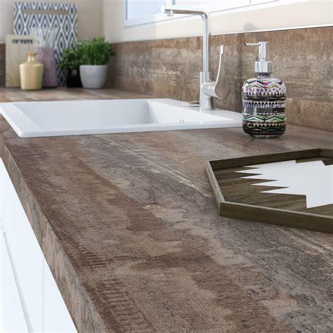 plan travail cuisine leroy merlin plan de travail stratifié vintage wood mat l 315 x p 65 cm ep 38 mm leroy merlin