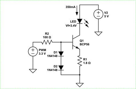 Microcontroller Bjt Constant Current Led Driver