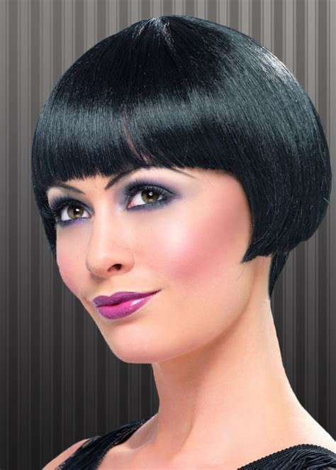 Black 1920s Flapper Girl Charleston Bob Wig [42001