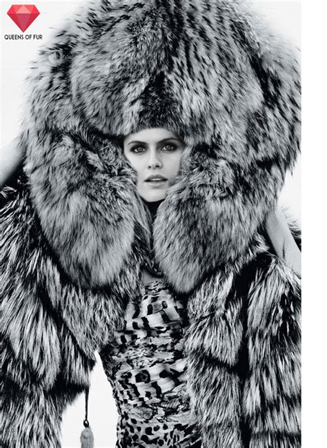 Alexandra Daddario In Giant Fur Hat And Stole By Queens Of Fur On Deviantart