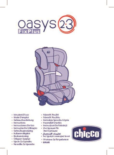 notice siege auto mode d 39 emploi chicco oasys 1 isofix siège auto trouver