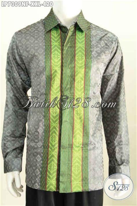 baju hem tenun furing lengan panjang pakaian tenun berkelas untuk pria dewasa til