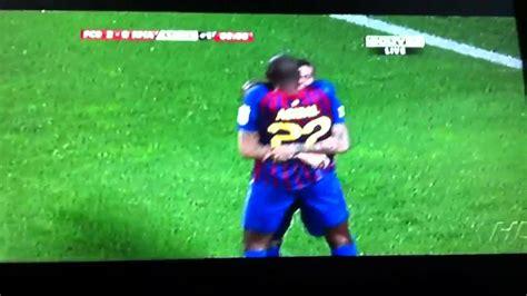 Goal de dani alves al Real Madrid copa del Rey 2012 - YouTube