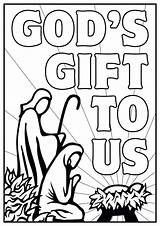Nativity Coloring Pages Scene Manger Christmas Printable Colouring Lds Christian Simple Drawing Drawings God Jesus Awana Religious Children Activities Cubbies sketch template