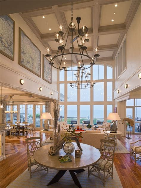 high ceiling living room home design ideas pictures