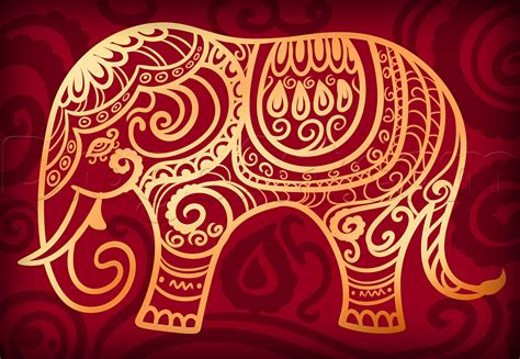 elephant hoop hindu elephant drawing lesson step by step pop