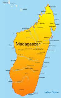 Madagascar Map Showing Attractions & Accommodation