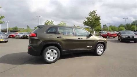jeep cherokee green 2015 2014 jeep cherokee sport eco green ew219005 everett