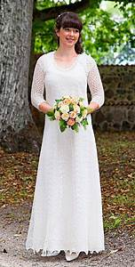 hand knitted festive wedding dress fine natural white wool With knitted wedding dress