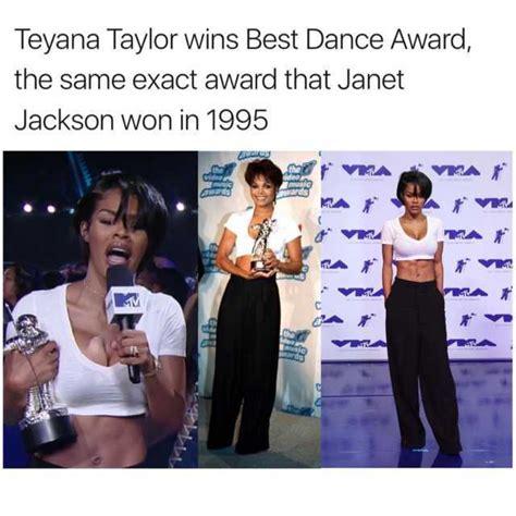 Teyana Taylor Meme - dopl3r com memes teyana taylor wins best dance award the same exact award that janet