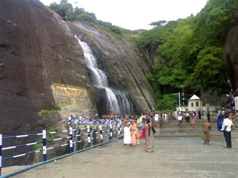south indian tourist spot tirunelveli courtallam waterfall city of tamil nadu india tourism
