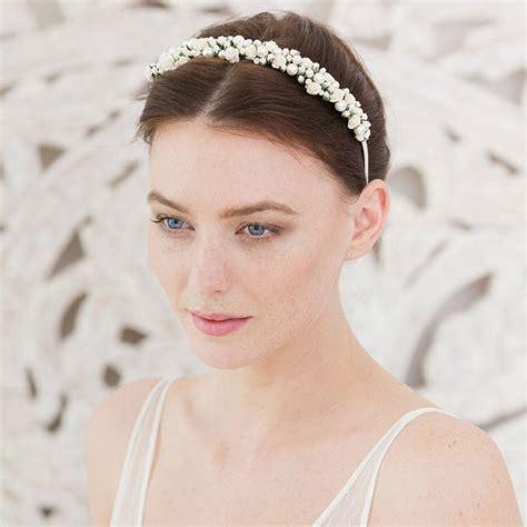 wedding headband rose  pearl  britten weddings