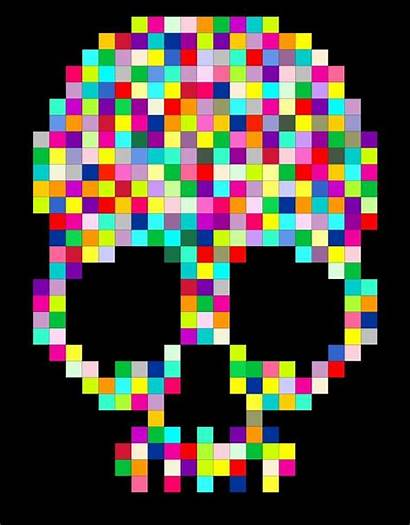 Quilt Pattern Skull Quilts Pixel Patterns Pixelated