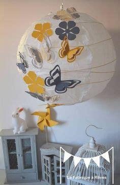 abat jour chambre fille abat jour suspension luminaire rond envolée de papillons