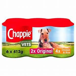Chappie Dog Food Tins Favourites 6x412g - Tesco Groceries