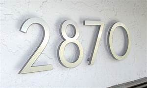 modern dwell house numbers With custom house numbers and letters