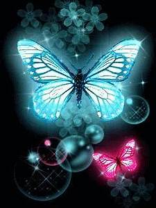 Download Neon Butterfly Mobile Wallpaper
