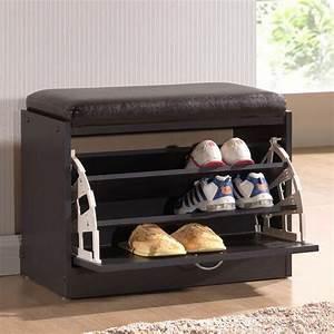 Baxton Studio Shir Dark Brown Wood Storage Cabinet-28862