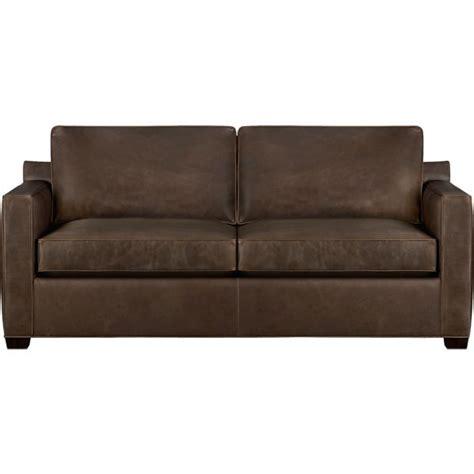 Davis Leather Queen Sleeper Sofa Cashew Crate And Barrel