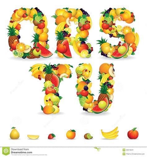 clipart frutta lettere variopinte da frutta e dalle bacche clipart