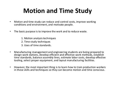time study motion and time study