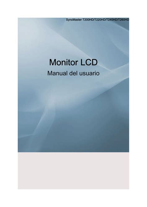 Samsung T240HD Manual de usuario Manualzz