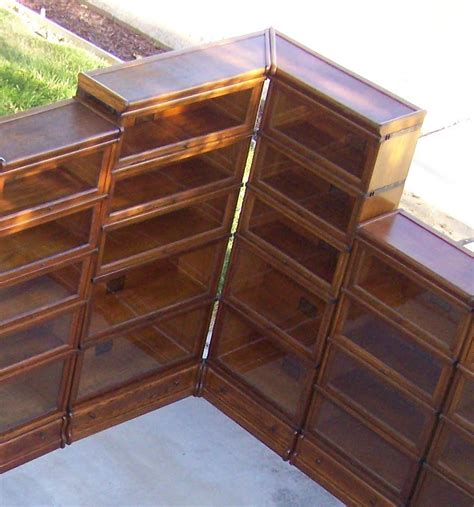 Corner Bookshelves For Sale by 25 Quot 3 4 Size Globe Wernicke Bookcase Corner Unit Antique