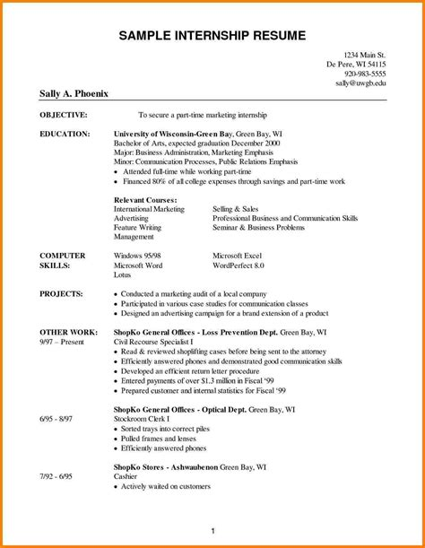 Posts related to undergraduate resume template doc. 6+ college student resume template for internship | Professional Resume List