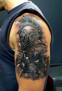100's of Gladiator Tattoo Design Ideas Pictures Gallery