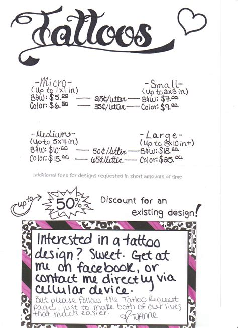 femme arts tattoos prices   request designs