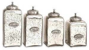 glass canisters kitchen numbered mercury glass jars with lids set of 4 contemporary kitchen canisters and jars
