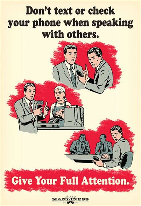 telephone customer service skills smartphone etiquette propaganda posters for the modern