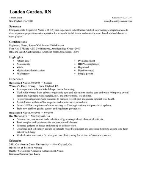 nursing resume sles nurse resume nursing resume template 2017 learnhowtoloseweight net