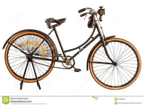Retro Bike Light by Vintage Early Twentieth Century Bicycle Royalty Free Stock