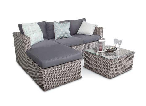 small outdoor sectional sofa bahamas rattan 3 seater outdoor sofa set 5pc grey